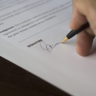 Signature - Accord de confidentialité
